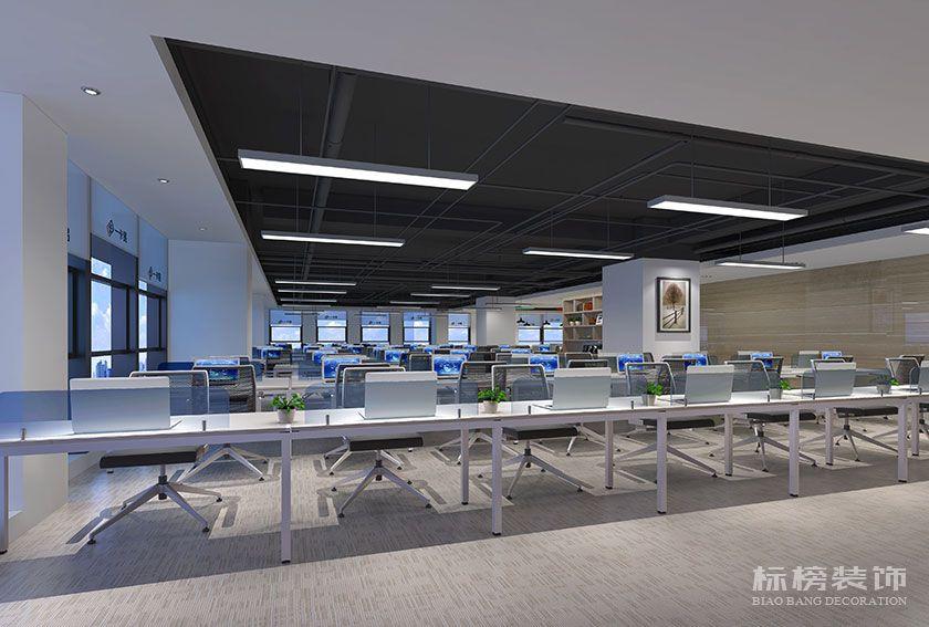 龙华-汇海广场-一卡易科技股份办公室装修-公共办公区